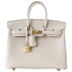 Hermes Birkin 25 Bag Beton HSS Rose Poupre Pink Brushed Gold Hardware Togo