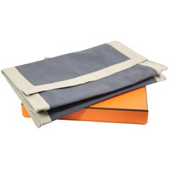 Hermes Canvas Clutch / Toiletrry Pouch