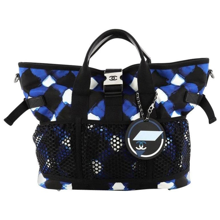 Chanel Airlines Mesh Tote Printed Nylon