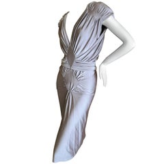 Yves Saint Laurent by Tom Ford Silvery Lilac Ruched Evening Dress