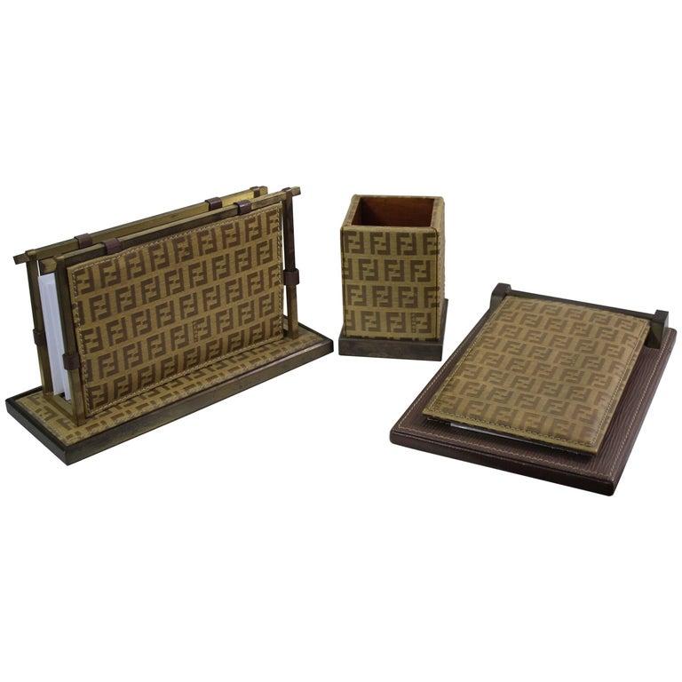 Fendi Vintage Monogram Bureau Set