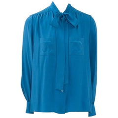 Chanel Lavaliere Silk Blouse