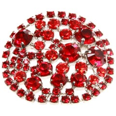 Vintage Christian Lacroix Red Stone Brooch