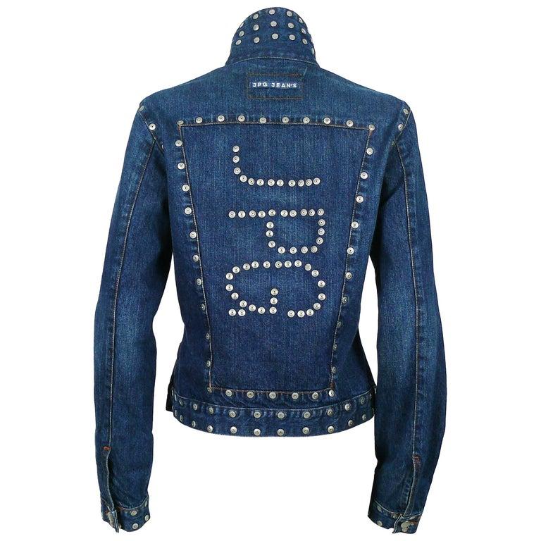 Jean Paul Gaultier Vintage Studded Denim Jacket