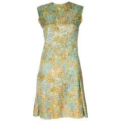 Vintage Multicolour Silk Shift Dress