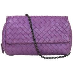 Bottega Veneta Purple Nappa Intrecciato Small Chain Crossbody Bag rt. $1,380