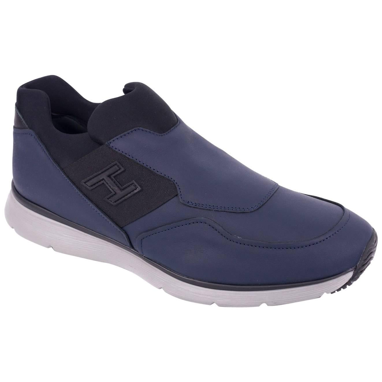 clearance new arrival Hogan Men's Blue Leather Slip O... clearance pay with visa amazon cheap online clearance largest supplier discount wholesale price C9KgmNvMQI