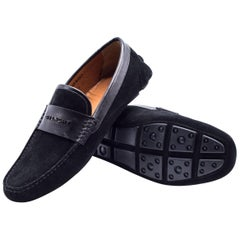 Givenchy Mens Black Suede Penny Loafers