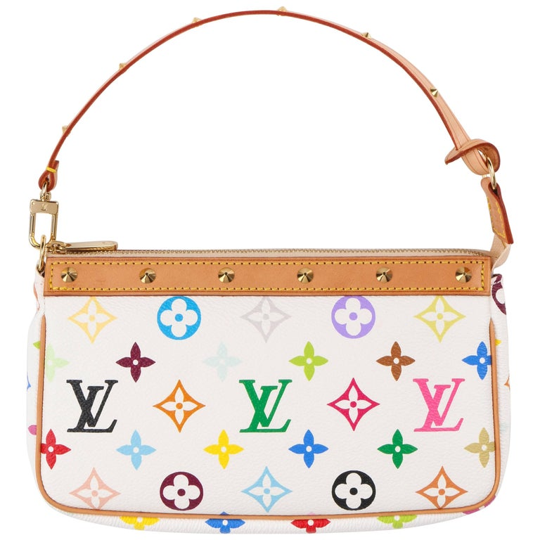 "LOUIS VUITTON S/S 2003 TAKASHI MURAKAMI ""Pochette"" Multicolor Monogram Purse NWT"