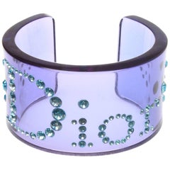 Christian Dior Lucite Iconic Crystal Cuff