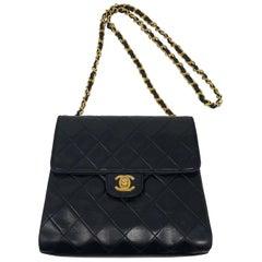 1990's Chanel Black Leather Mini Crossbody Bag