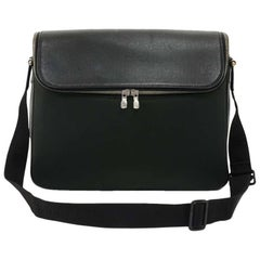 Louis Vuitton Taimyr Black Taiga Leather Messenger Bag