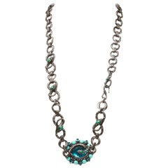 Lanvin Snake Crystal Necklace