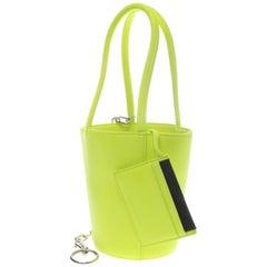 Alexander Wang Fluro Green Roxy Mini Bucket Bag