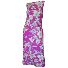 Dries van Noten silk floral low back dress