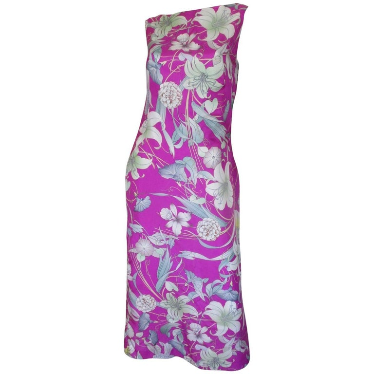 212ddf895b Dries van Noten silk floral low back dress For Sale at 1stdibs