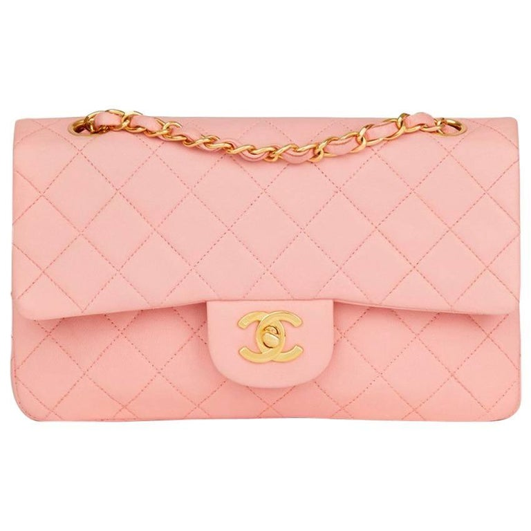 Chanel Quilted Lambskin Small Classic Double Flap Bag For Sale at ... af4cb9558b60b