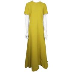 Roksanda Mustard S/S Gown w/ Silver Back Zip - 10