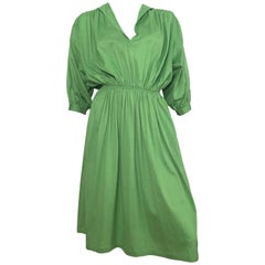 Missoni Green Cotton Casual Day Dress with Pockets, 1980s