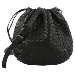 Bottega Veneta Drawstring Shoulder Bag Intrecciato Nappa Small