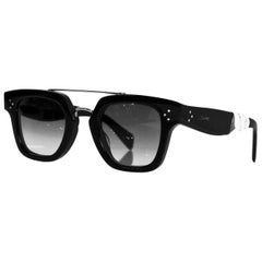 Celine Black Resin Top-Bar Sunglasses with Case rt. $540