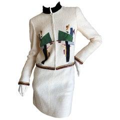 Chanel Ivory Embellished Suit, Autumn 2003