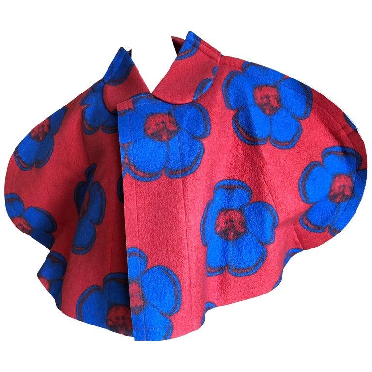 Comme des Garcons Floral Pop Art Felted 2D Cape Jacket  Fall 2012