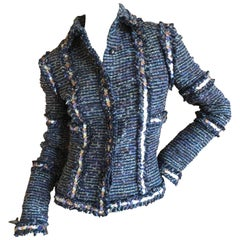 "Chanel ""Made in Paris"" Fantasy Tweed Jacket with Sequin Accents, Fall 2005"