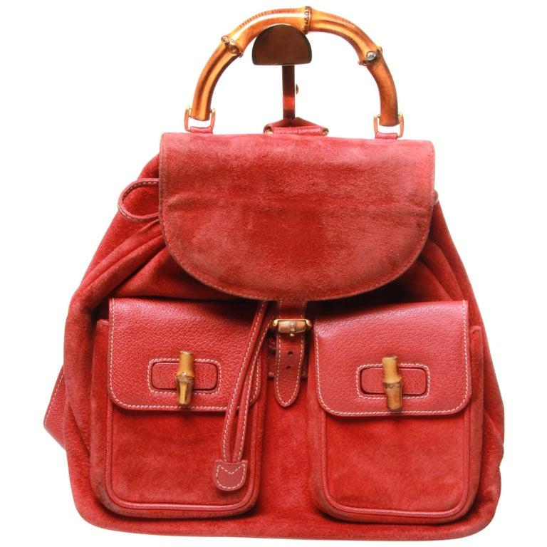 Gucci Vintage Red Backpack