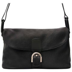 Delvaux Black Brillant Besace Shoulder Bag