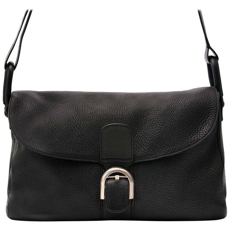 Delvaux Black Brillant Besace Shoulder Bag