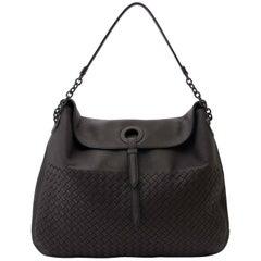 Bottega Veneta Intrecciato Dark Brown Leather Shoulder Bag