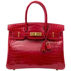 Hermès Birkin 30 Crocodile Niloticus Braise GHW Bag