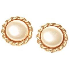 Oscar De La Renta Clip On Earrings
