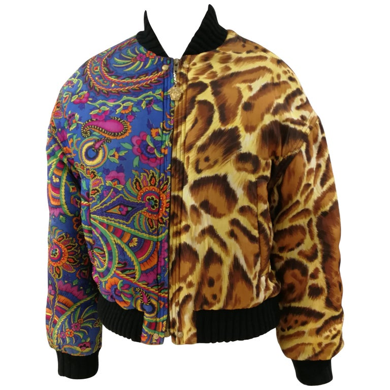 Versace Jeans Couture Multicoloured Wool Bomber