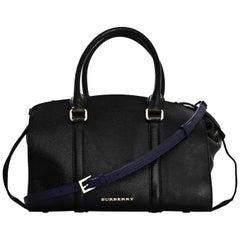 Burberry Black Patent Medium Dinton Tote Bag w/ strap