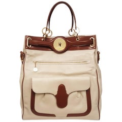 Balenciaga Beige and Brown Shoulder Bag, 2008 Collection