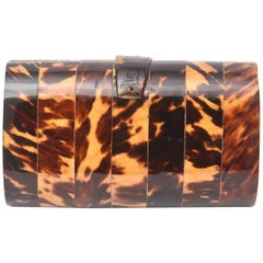 Tortoise Shell Vintage Clutch / Evening Bag