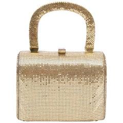 Gold Mesh Box Bag