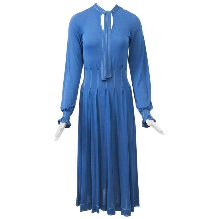 Jean Muir Blue Dress