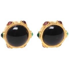 Oscar de la Renta Vintage Clip On Earrings
