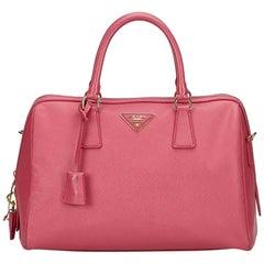 Prada Pink Saffiano Leather Bag