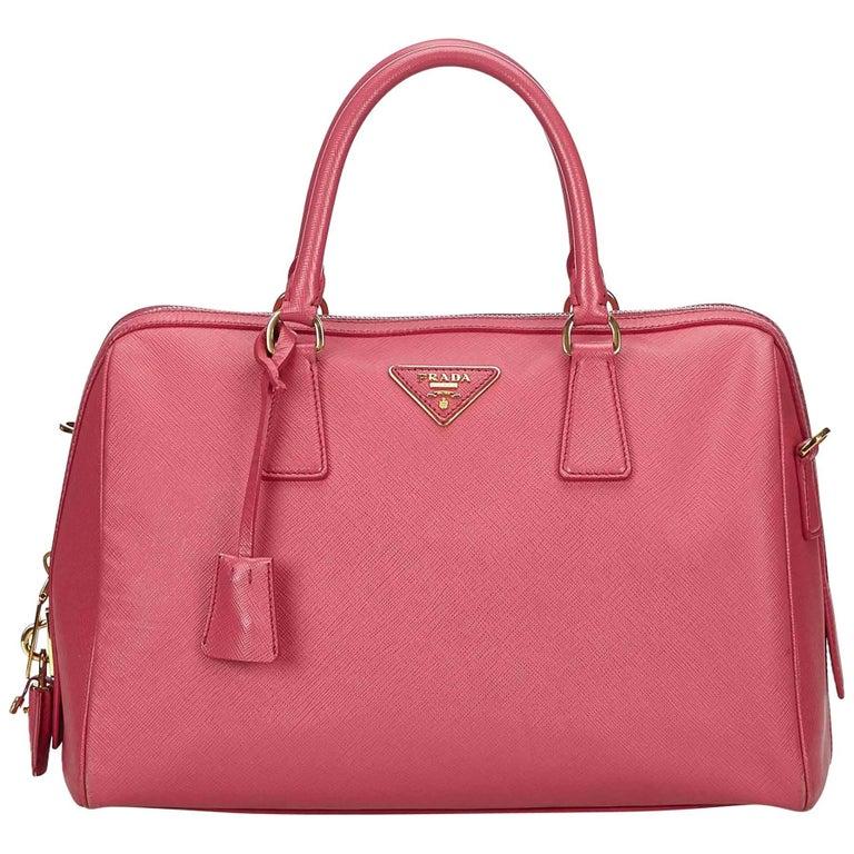8cdcef08ce02 Prada Pink Saffiano Leather Bag at 1stdibs