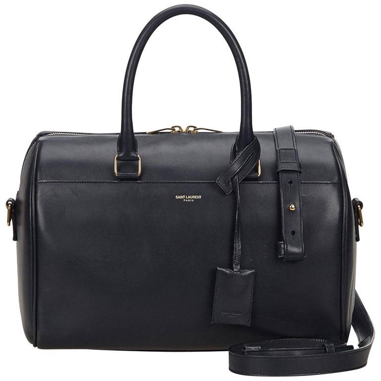 Saint Laurent Classic Duffle Bag Crocodile Embossed Leather 6 at 1stdibs b71a26fe618a1