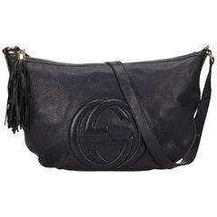 Gucci Black Leather Soho Messenger Bag