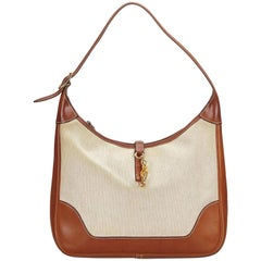 Hermes Beige Canvas Trim 31 Bag