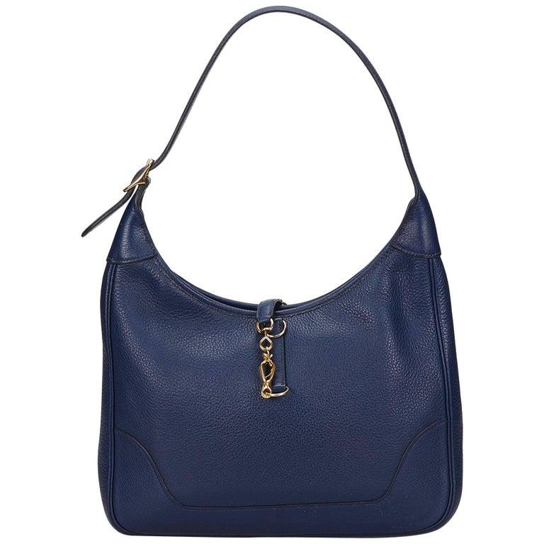 Hermes Blue Trim 31 Bag