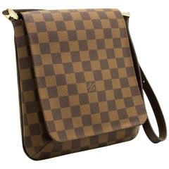 Louis Vuitton Damier Ebene Musette Salsa Short Strap Shoulder Bag