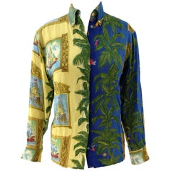 Versace Palms and Sailing Ships Shirt