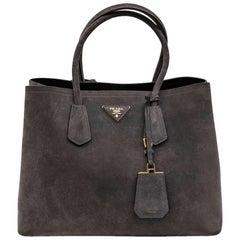 PRADA Bag in Pearly Gray Velvet Calfskin